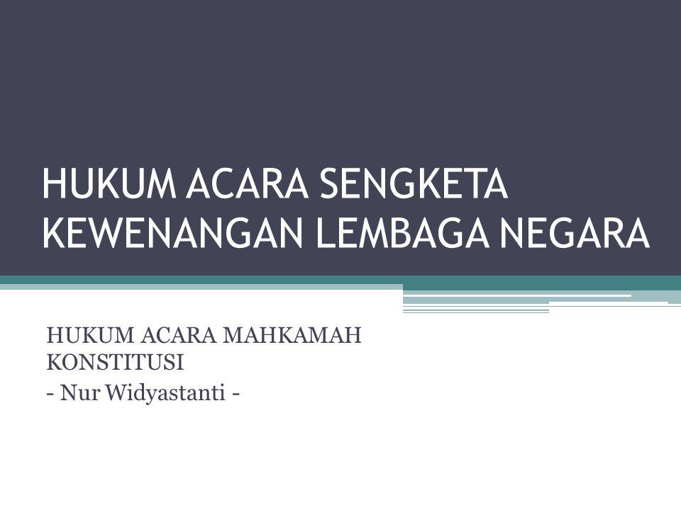 Putusan Mahkamah Konstitusi yang kemudian diadopsi sebagai syarat legal standing dalam Pasal 3 Peraturan Mahkamah Konstitusi No.