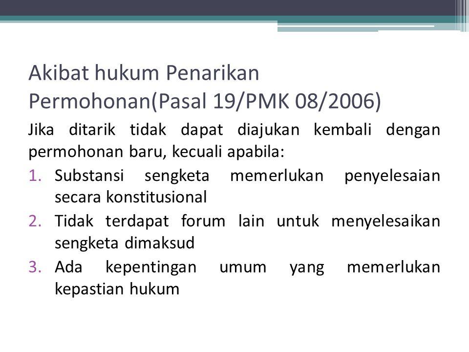 Penarikan Permohonan Pasal 18 PMK 08/2006 1.