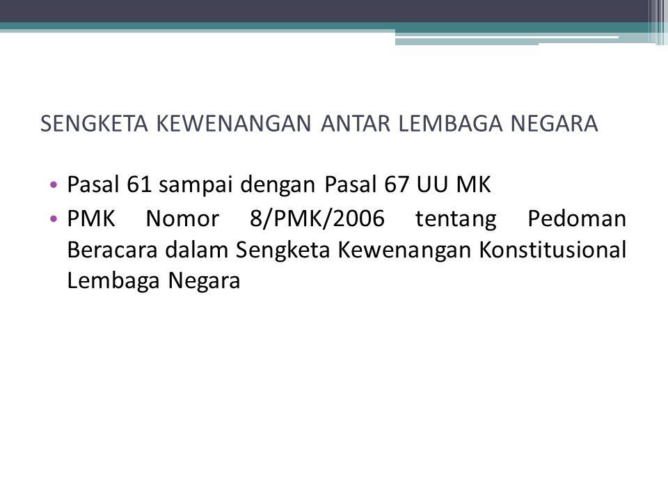 11)Pemerintahan Daerah Kabupaten, yang mencakup 12)Jabatan Bupati 13)DPRD Kabupaten 14)Pemerintahan Daerah Kota, yang mencakup 15)Jabatan Walikota 16)DPRD Kota.