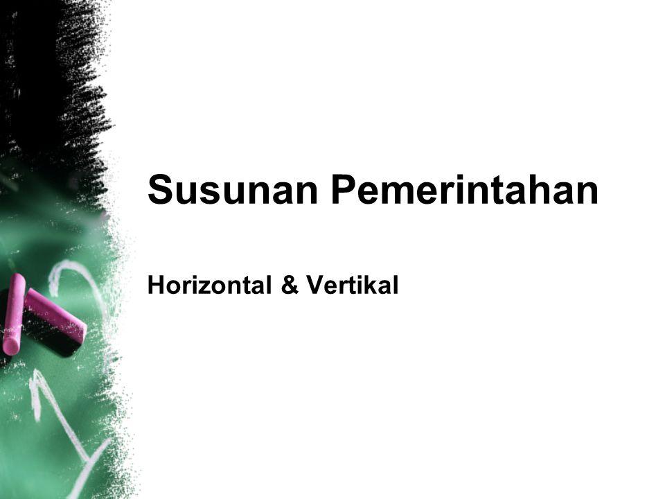 Susunan Pemerintahan Horizontal & Vertikal