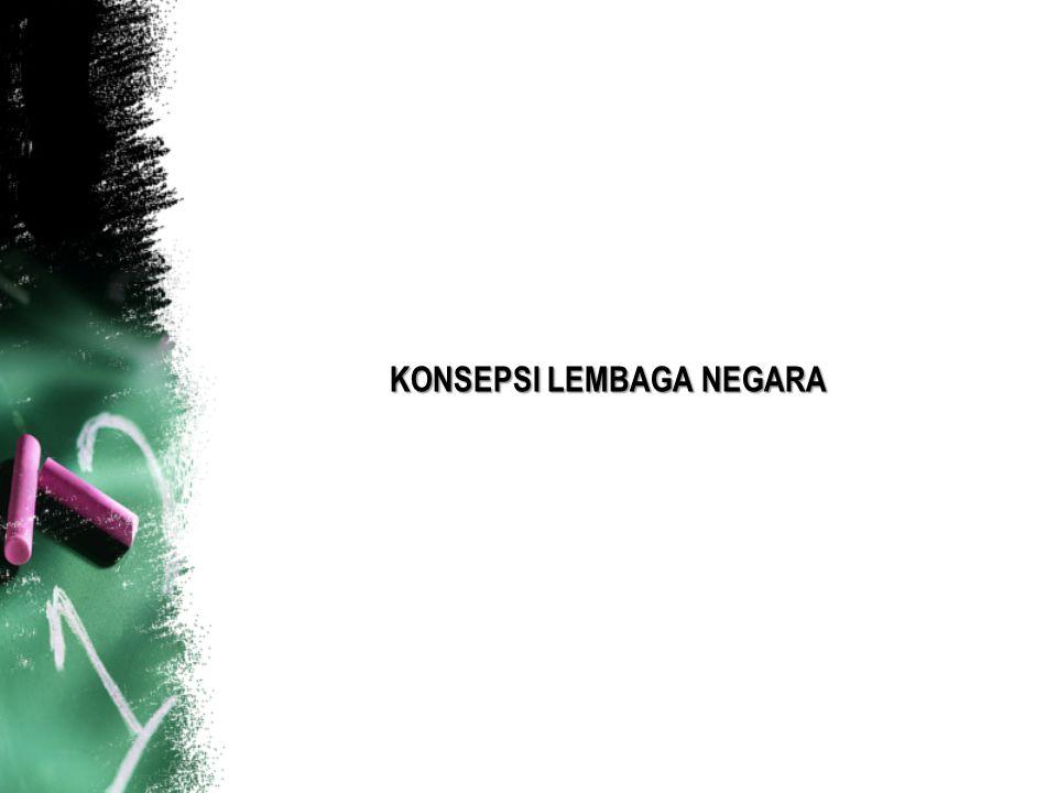 KONSEPSI LEMBAGA NEGARA
