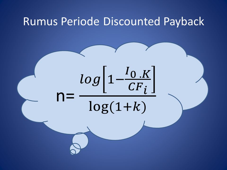 Rumus Periode Discounted Payback