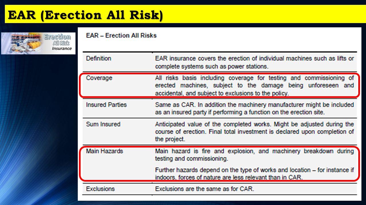 EAR (Erection All Risk)