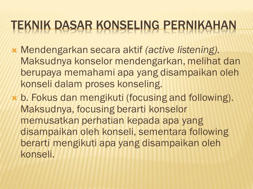  Mendengarkan secara aktif (active listening).
