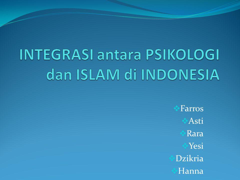 Perkembangan paradigma Psikologi Islami selama hampir dua dekade di Indonesia menunjukkan dinamika keilmuwan yang berarti.