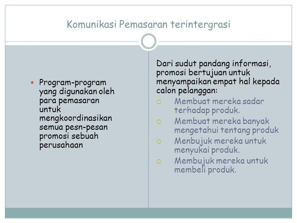 Tujuan Promosi 1.Menyebarkan informasi produk kepada target pasar potensial 2.