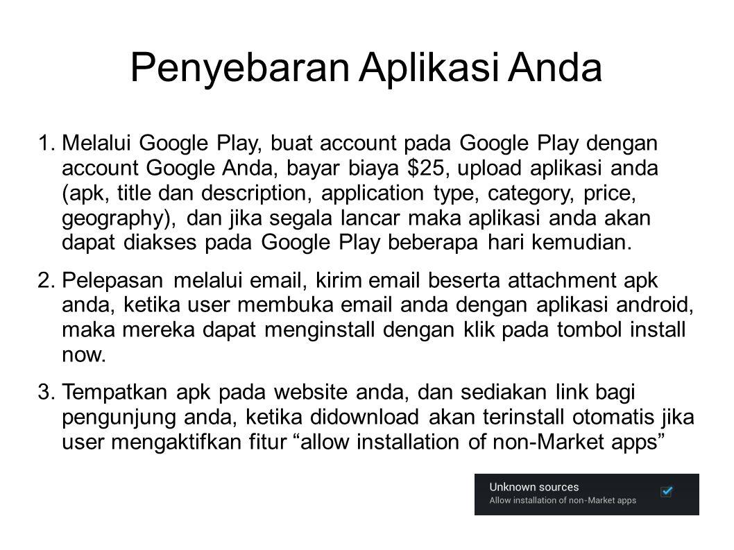 Penyebaran Aplikasi Anda 1.
