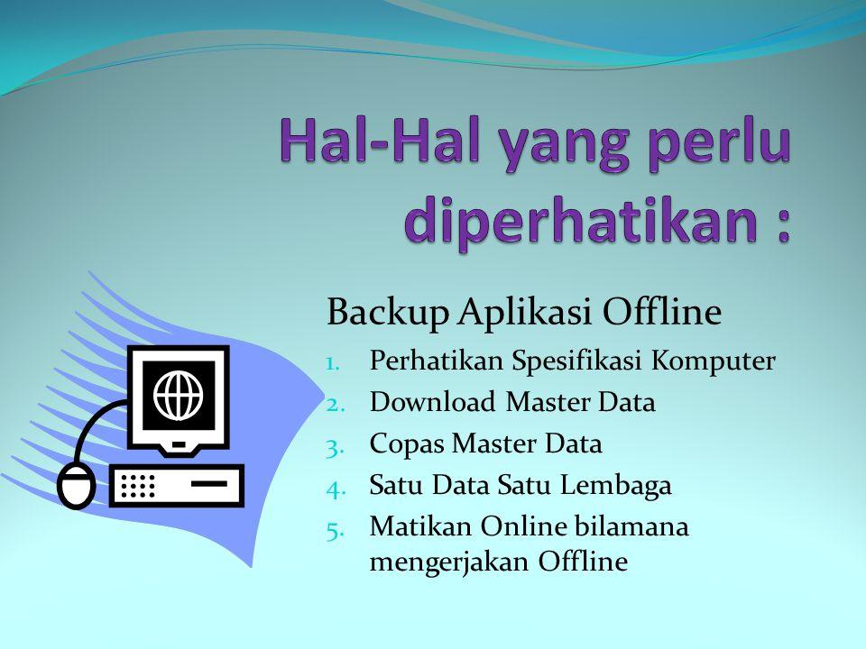 1. Entri Excel 2. Backup Aplikasi Offline 3. Upload EMIS Online