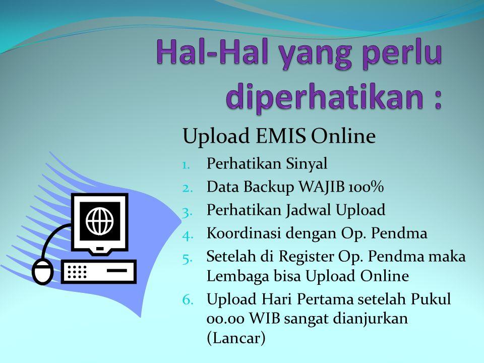Backup Aplikasi Offline 1. Perhatikan Spesifikasi Komputer 2. Download Master Data 3. Copas Master Data 4. Satu Data Satu Lembaga 5. Matikan Online bi