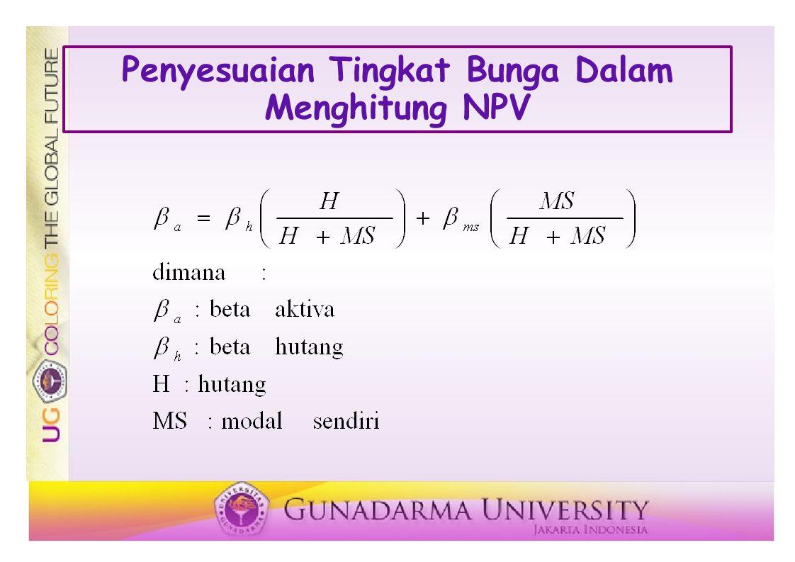 Penyesuaian Tingkat Bunga Dalam Menghitung NPV