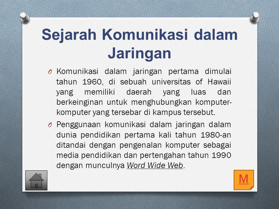 3. Komunikasi dalam jaringan pertama dimulai tahun... 1960 1955 1965 1945 1970 E. D. C. B. A.