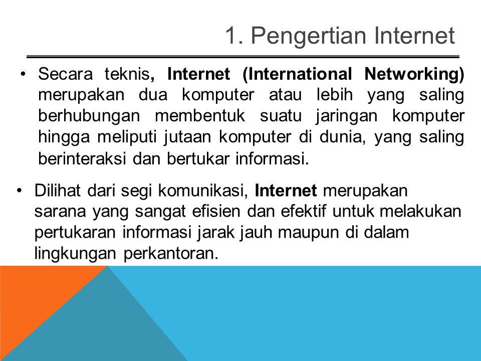 PEMBAHASAN 1.Pengertian Internet 2.Sejarah Internet 3.Cara mengakses internet 4.Metoda Pengalamatan di Internet 5.Layanan Aplikasi Internet 6.Netiquet
