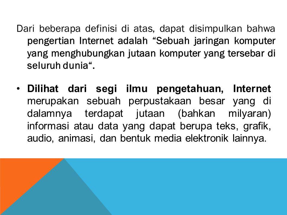 Bandwith Bandwith adalah kecepatan transmisi dalam sistem komunikasi data, dihitung dalam satuan bit / detik (bps - bit per second) Contoh : Ethernet : 10 - 100 Mbps Modem : 14,4 - 56 Kbps Leased line : 19 Kbps - 2 Mbps 1.ISP …