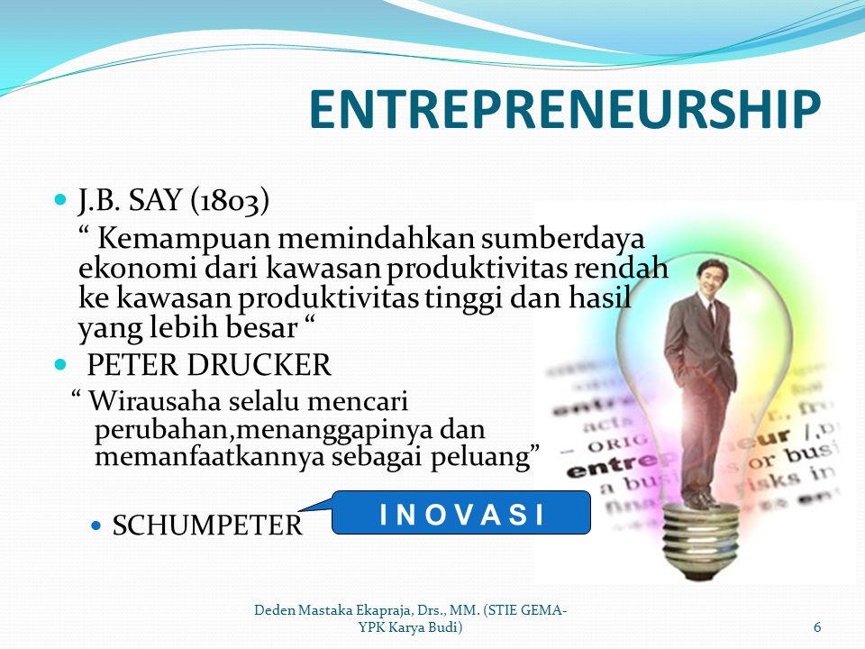 Karakteristik Wirausaha Yang Sukses (Zimmerer & Scarborough, 1996:6) 1.