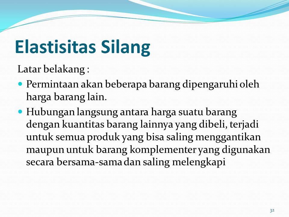 Peran elastisitas pendapatan : 1. Memainkan peranan penting dalam kegiatan pemasaran sebuah perusahaan 2. Pada tingkat nasional konsep elastisitas pen
