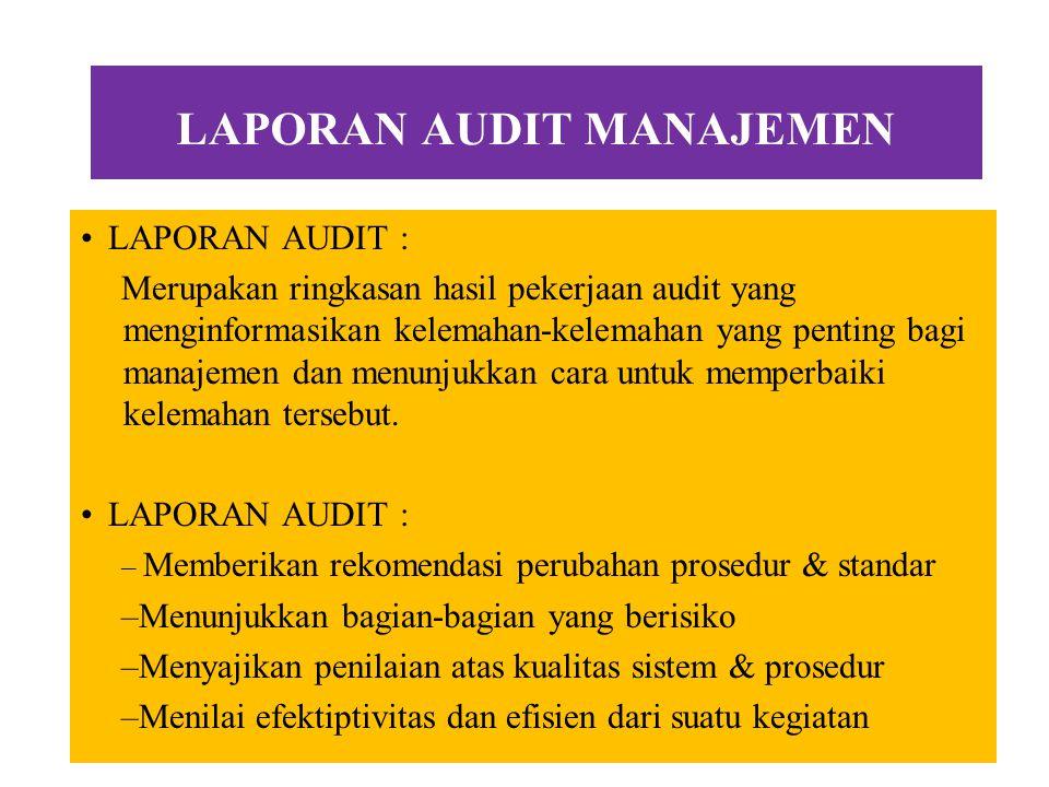 Laporan Audit Managemen YULAZRI M.Ak.,CPA Universitas Esa Unggul