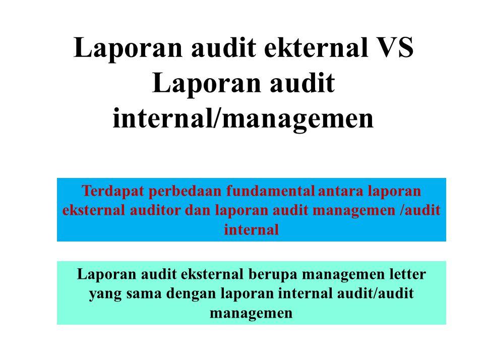 LAPORAN AUDIT MANAJEMEN Menginformasikan Mempengaruhi Memberikan Hasil (Response) Auditor ingin membangun kesadaran manajemen akan adanya masalah/temu