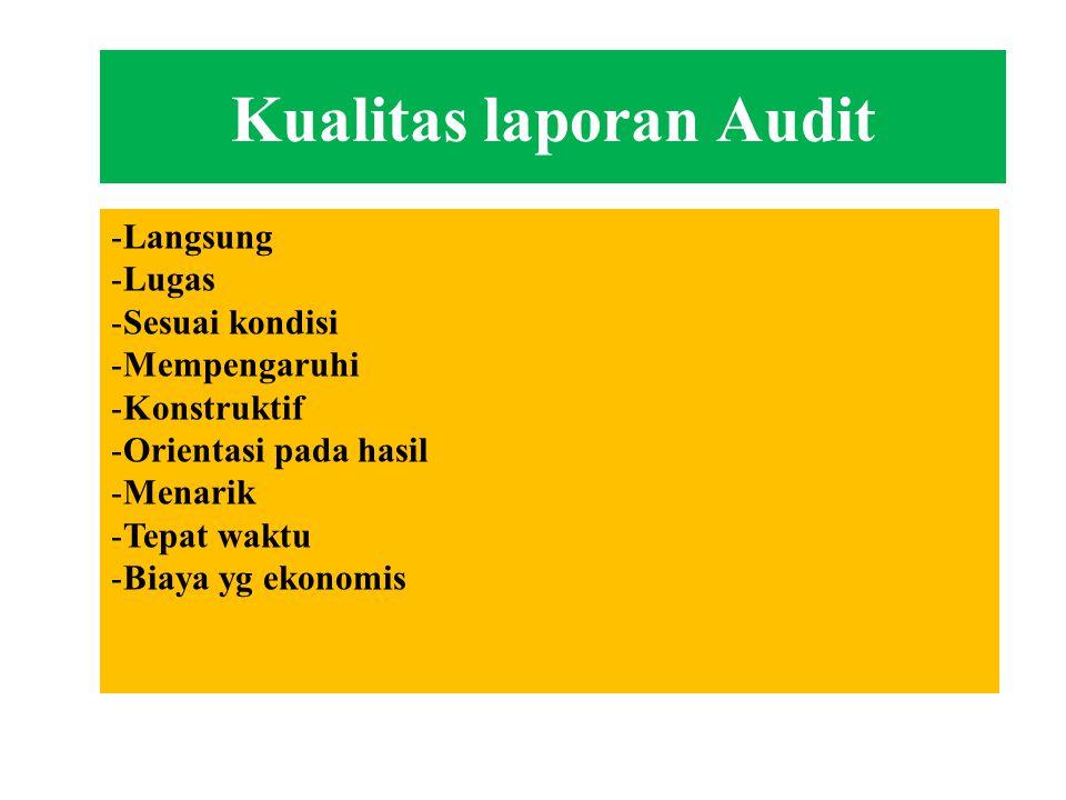 Rekomendasi Output laporan managemen adalah berupa rekomendasi Orientasi pada tindakan efektif Komitmen pada hasil Pengawasan dan sistem penindaklanju