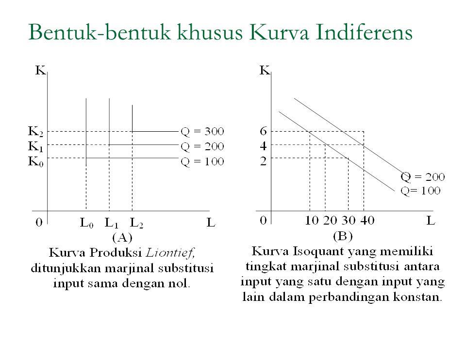 Bentuk-bentuk khusus Kurva Indiferens