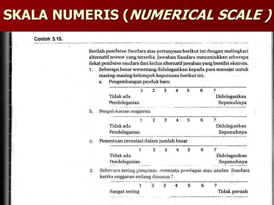 SKALA NUMERIS (NUMERICAL SCALE )