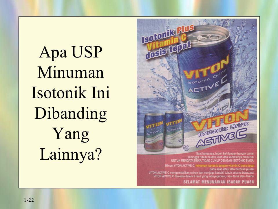 1-22 Apa USP Minuman Isotonik Ini Dibanding Yang Lainnya?