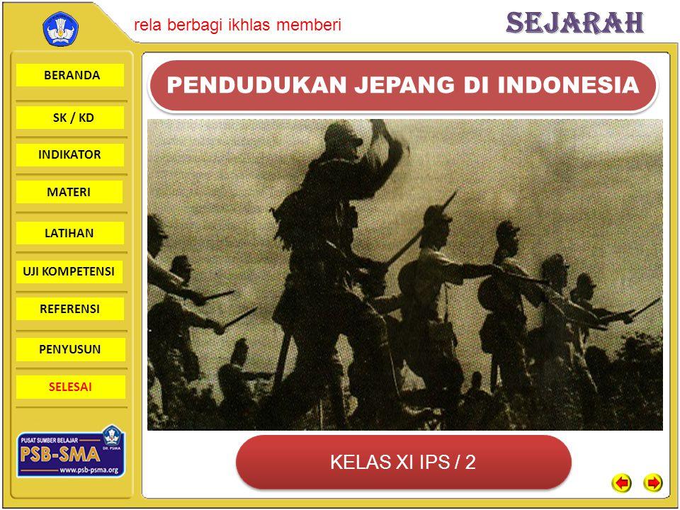 BERANDA SK / KD INDIKATORSejarah rela berbagi ikhlas memberi MATERI LATIHAN UJI KOMPETENSI REFERENSI PENYUSUN SELESAI BPUPKIBPUPKI Latar belakang: Pembentukan BPUPKI pada tanggal 1 Maret 1945 dilatarbelakangi oleh kekalahan Jepang dalam perang Perang Pasifik.