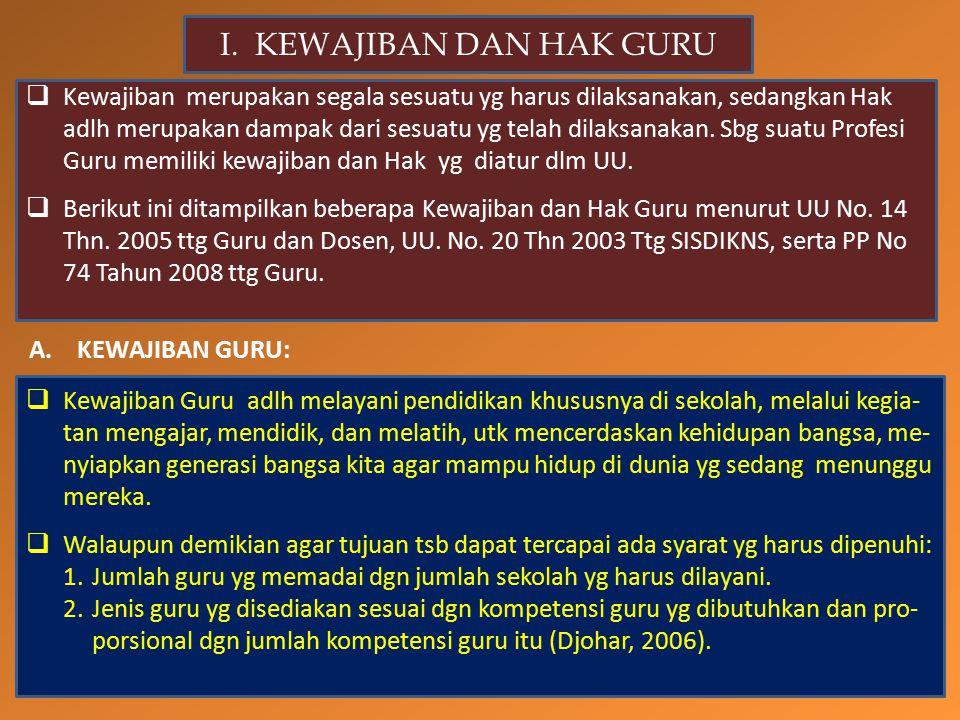 A.KEWAJIBAN GURU: I.