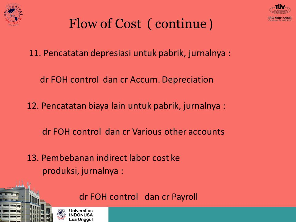 Flow of Cost ( continue ) 14.