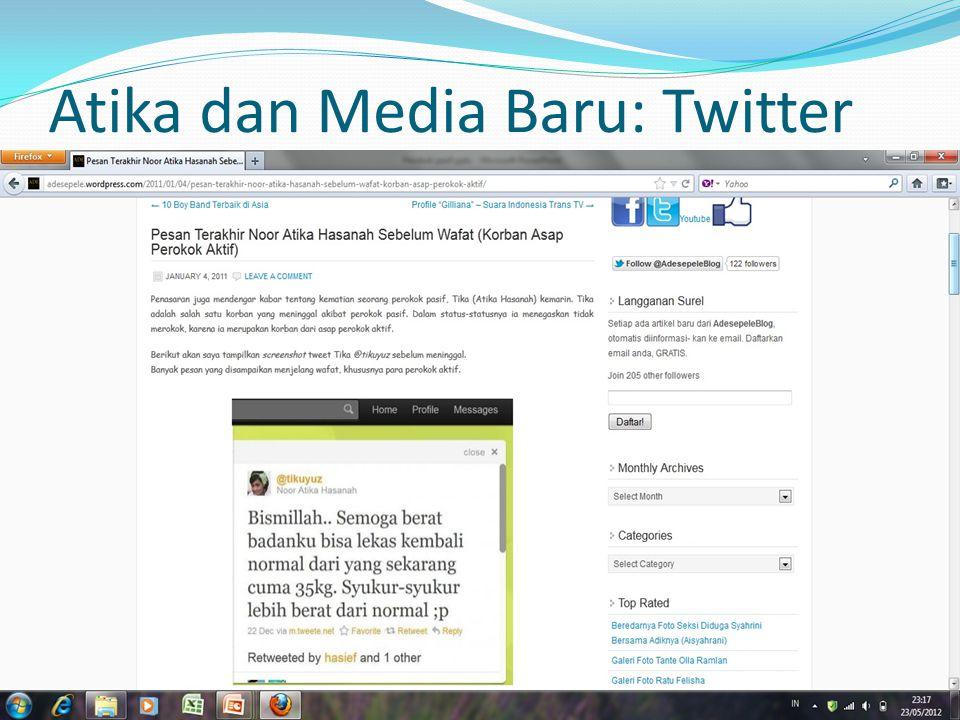 Atika dan Media Baru: Twitter