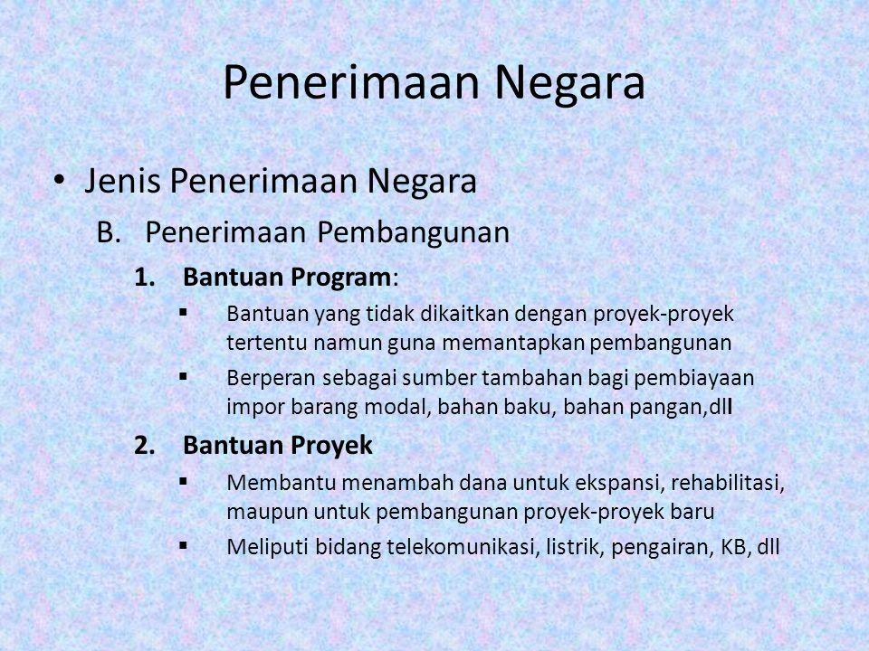 APBN: Pengalaman Indonesia Orde baru→ Anggaran Belanja Seimbang yang dinamis Kenyataan: Anggaran defisit.