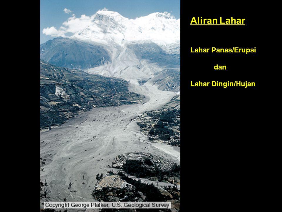 Aliran Lahar Lahar Panas/Erupsi dan Lahar Dingin/Hujan