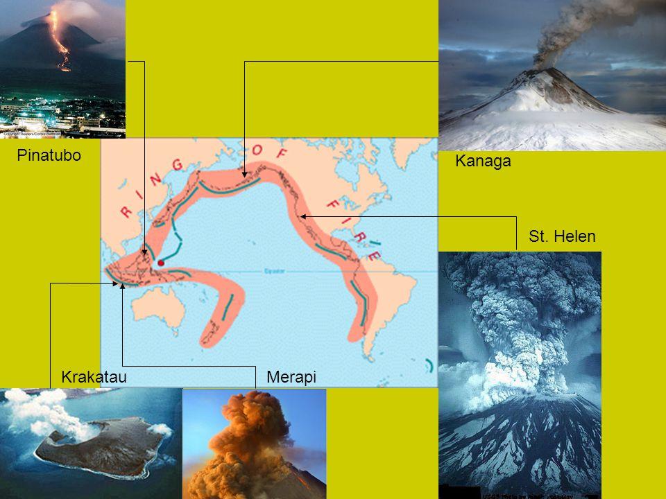 Pinatubo KrakatauMerapi St. Helen Kanaga