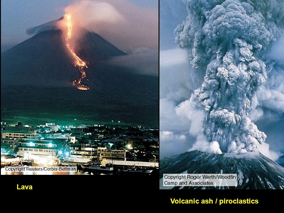 Lava Volcanic ash / piroclastics