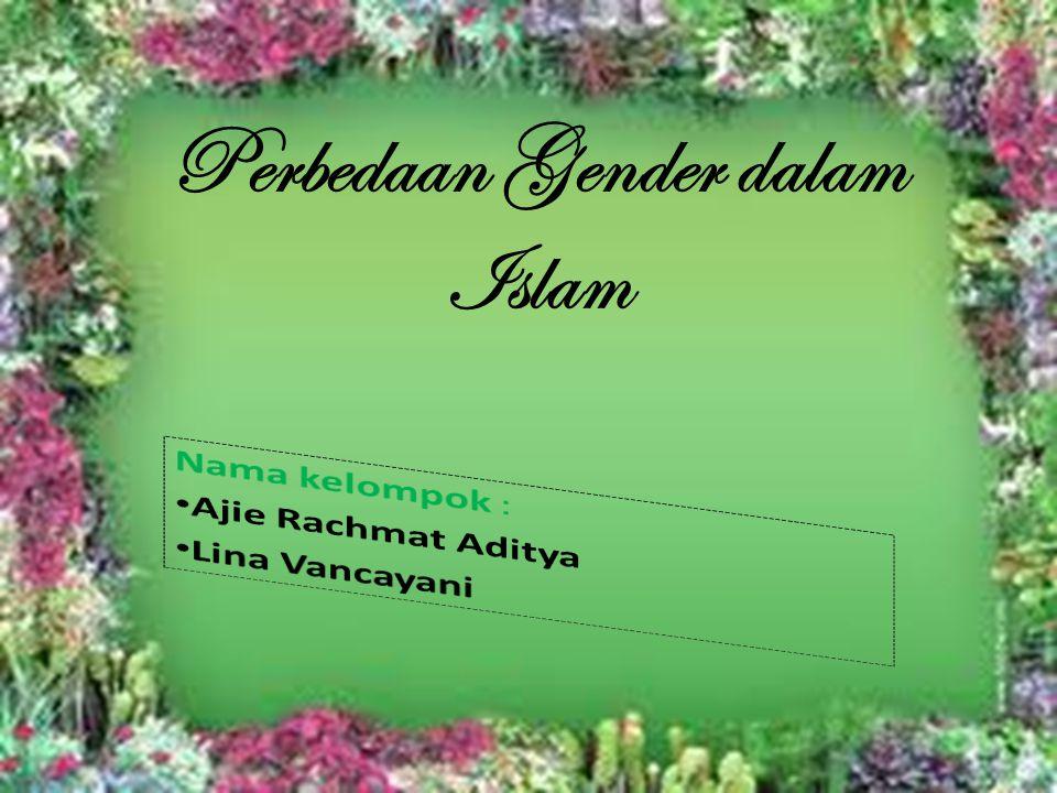 Perbedaan Gender dalam Islam