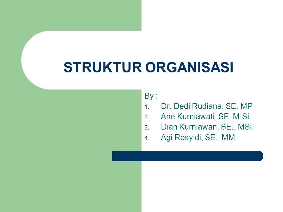 STRUKTUR ORGANISASI By : 1.Dr. Dedi Rudiana, SE. MP 2.