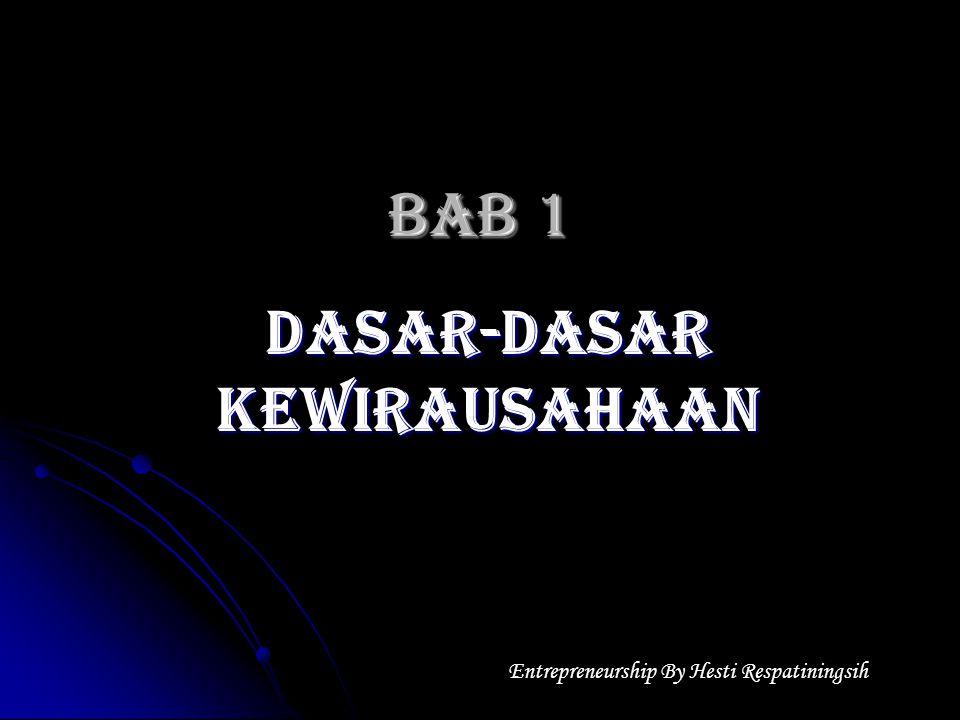 BAB 1 DASAR-DASAR KEWIRAUSAHAAN Entrepreneurship By Hesti Respatiningsih