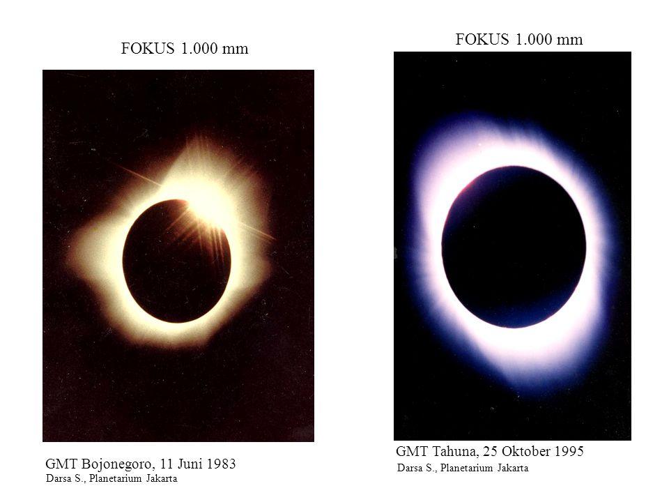 FOKUS 2.250 mm GBT, Jakarta 10 Februari 1990 Cecep N., Planetarium Jakarta POTRET BENDA-BENDA LANGIT