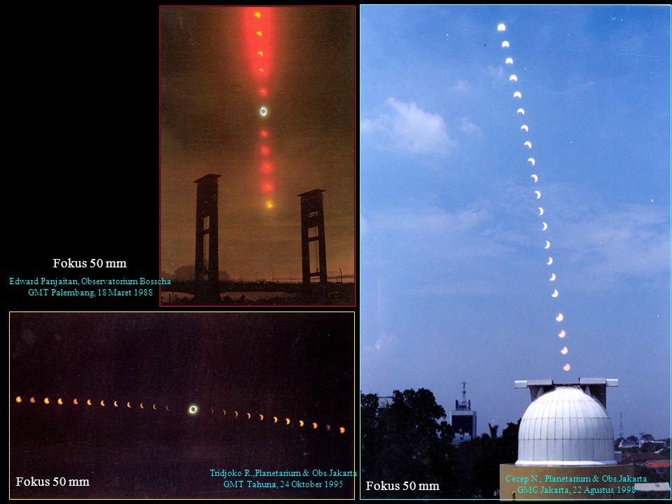 PEMGAMATAN MATAHARI Ukuran bayangan matahari pada film dapat dianggap sama dengan ukuran bayangan bulan.