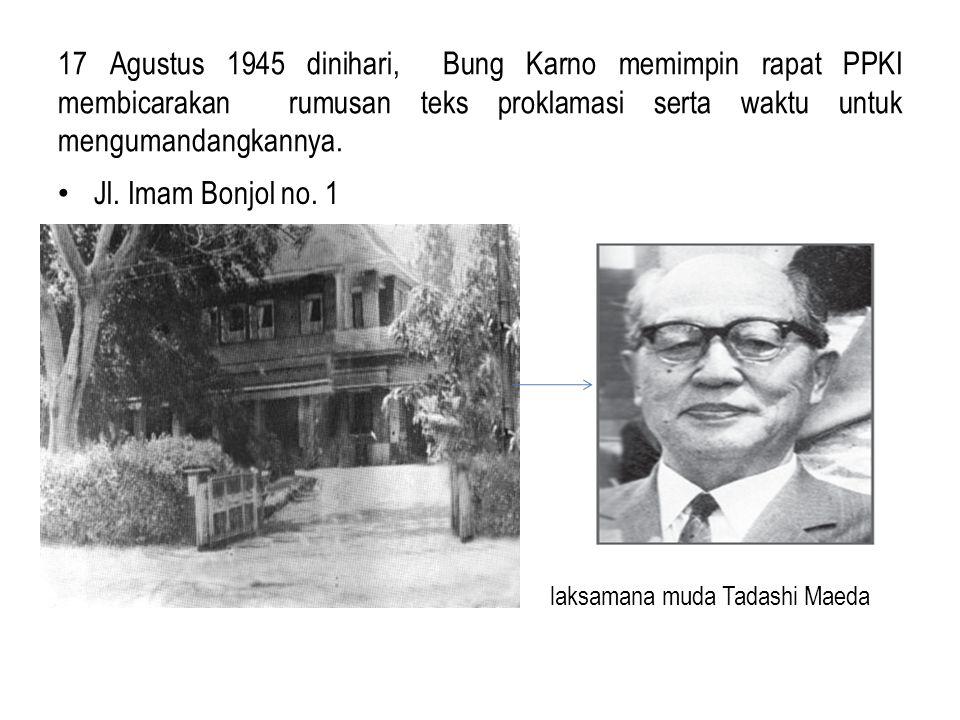 Bung Karno tetap tidak mau memenuhi tuntutan golongan muda untuk memproklamasikan kemerdekaan. 16 Agustus 1945 pagi Golongan muda membawa Yusuf Kunto