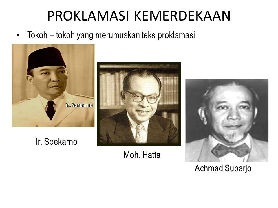 17 Agustus 1945 dinihari, Bung Karno memimpin rapat PPKI membicarakan rumusan teks proklamasi serta waktu untuk mengumandangkannya. Jl. Imam Bonjol no