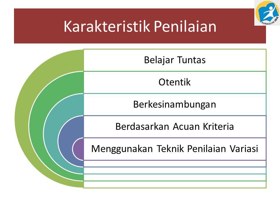 Karakteristik Penilaian Belajar Tuntas Otentik Berkesinambungan Berdasarkan Acuan Kriteria Menggunakan Teknik Penilaian Variasi