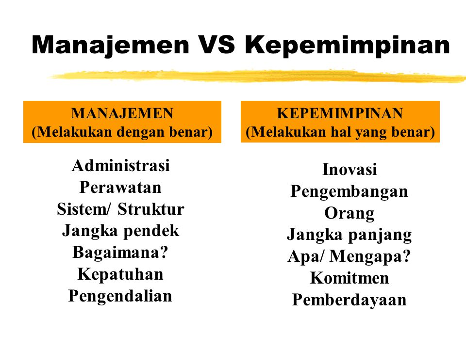 Managers vs. Leaders Managers zFocus on things zDo things right zPlan zOrganize zDirect zControl zFollows the rules Leaders z Focus on people z Do the