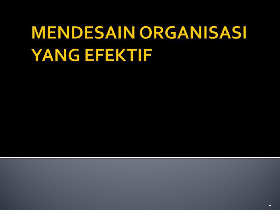  Age & size (umur organisasi & ukuran besar organisasi) dilihat dari jumlah pekerja,tugas dan aturan  Technical System (faktor penggunaan teknologi dalam (operating core) organisasi  Environment (lingkungan yang stabil, rumit,pasar tersebar, tidak pasti)  Power ( kehadiran pengendalian dari luar organisasi.