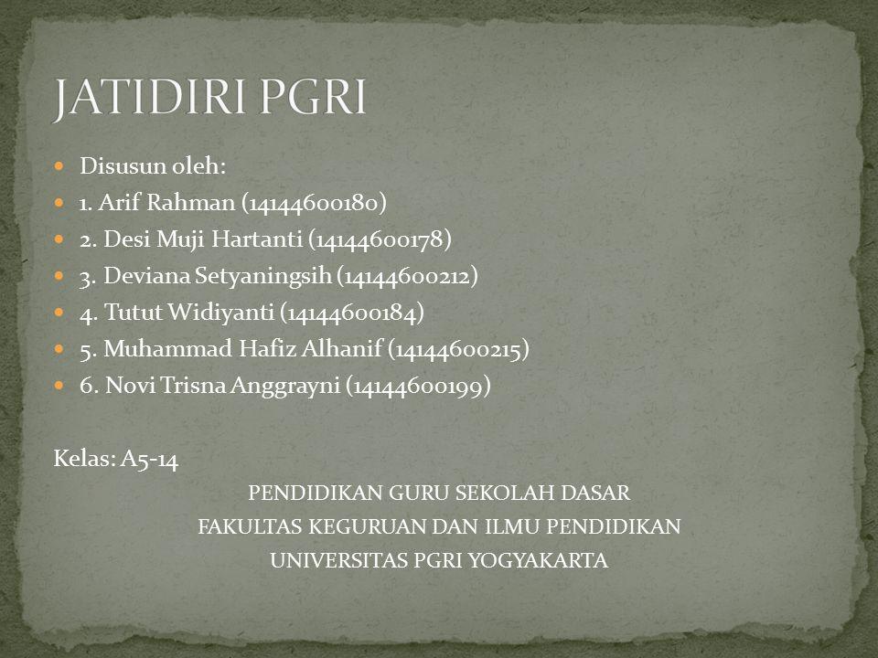 Disusun oleh: 1. Arif Rahman (14144600180) 2. Desi Muji Hartanti (14144600178) 3. Deviana Setyaningsih (14144600212) 4. Tutut Widiyanti (14144600184)