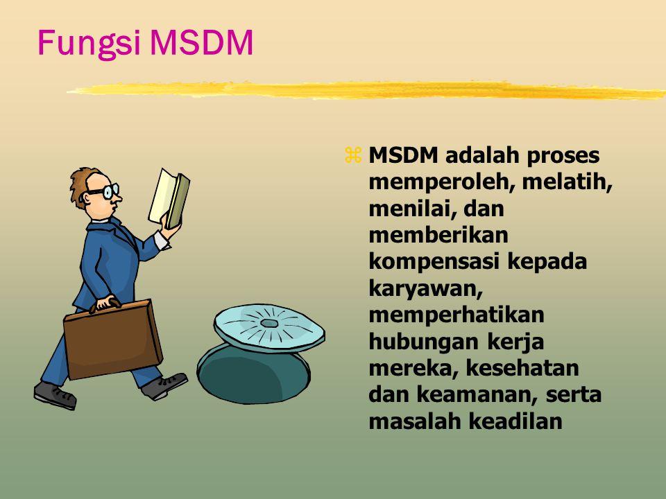 Fungsi MSDM z MSDM adalah proses memperoleh, melatih, menilai, dan memberikan kompensasi kepada karyawan, memperhatikan hubungan kerja mereka, kesehat