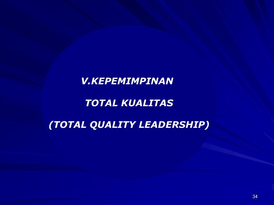 34 V.KEPEMIMPINAN TOTAL KUALITAS (TOTAL QUALITY LEADERSHIP)