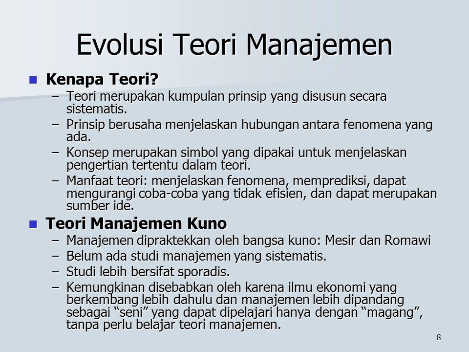 7 Manajer dan Organisasi (5) Menjadi Manajer yang Sukses Menjadi Manajer yang Sukses –Tidak ada formula pasti; tetapi manajer yang efektif tidak lepas