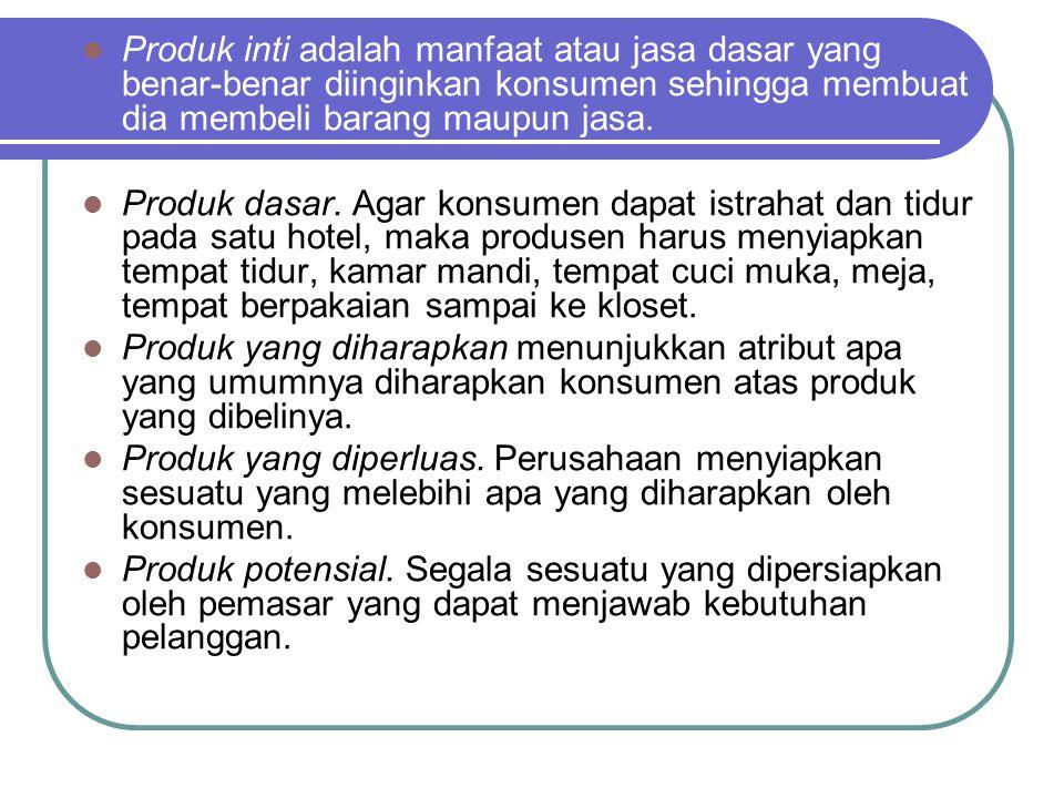Produk inti adalah manfaat atau jasa dasar yang benar-benar diinginkan konsumen sehingga membuat dia membeli barang maupun jasa. Produk dasar. Agar ko