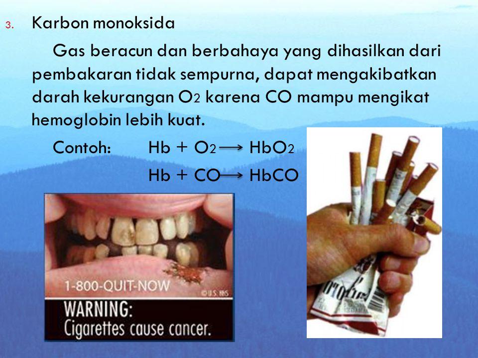 Zat Berbahaya di dalam Rokok 1. Nikotin Zat beracun, mudah terserap lewat kulit, berwarna kuning sampai coklat bila terkena sinar matahari, efek nikot