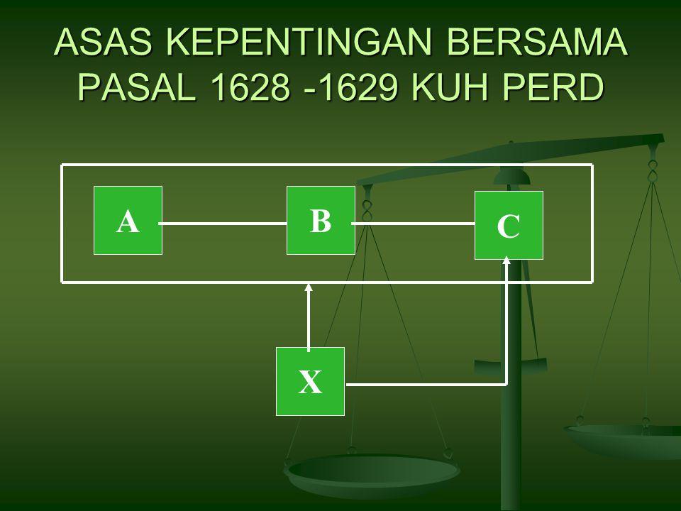 ASAS KEPENTINGAN BERSAMA PASAL 1628 -1629 KUH PERD AB C X